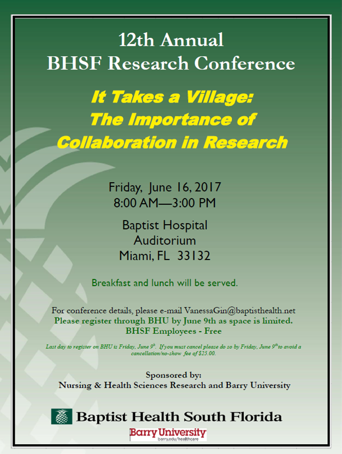 BHSF Research Conference