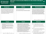 Alternative Communication Methods for Non-Verbal Critically Ill Patients