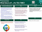 What time is it?....It's TEA TIME!! by Yesenia Mauricio, Vanessa Echevarria, and Marisol Piedra